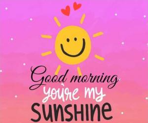 Good morning. You're my sunshine